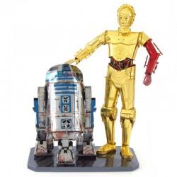 Figurines en métal - Star Wars R2D2 et C3PO en couleurs