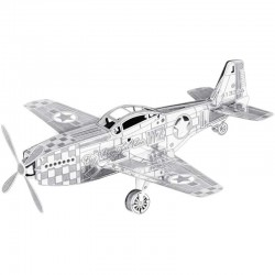 Puzzle 3D en métal - MUSTANG P-51