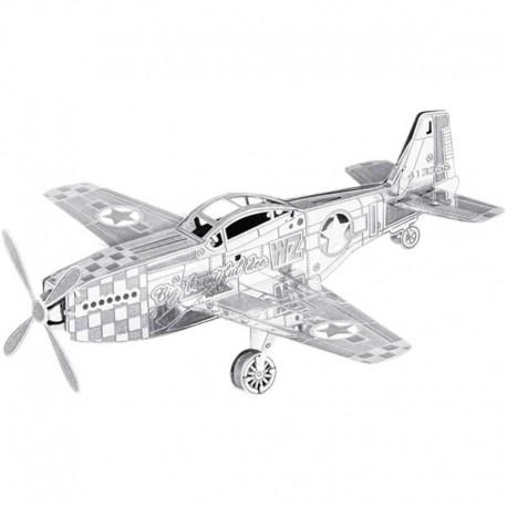 Maquette avion métal - MUSTANG P-51