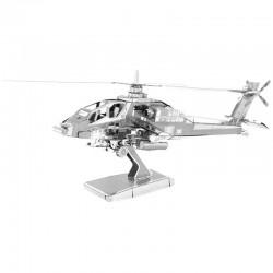Puzzle 3D en métal - Hélicoptère AH-64 Apache