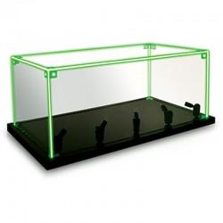 Présentoir Lumineux vitrine 18x33x15cm pour maquettes