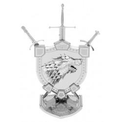 Maquette en métal Blason maison Stark